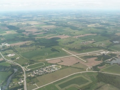 Aerial View of Hnaover Municipal Airport